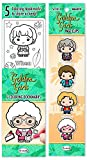 Re-marks Golden Girls Gift Set of 9 Bookmarks - Includes 4 Magnetic Page Clips and 5 Coloring Bookmarks