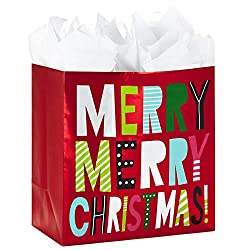 Hallmark Extra Large Christmas Gift Bag with Tissue Paper (Merry Christmas), Extra Large - 5XGB2839