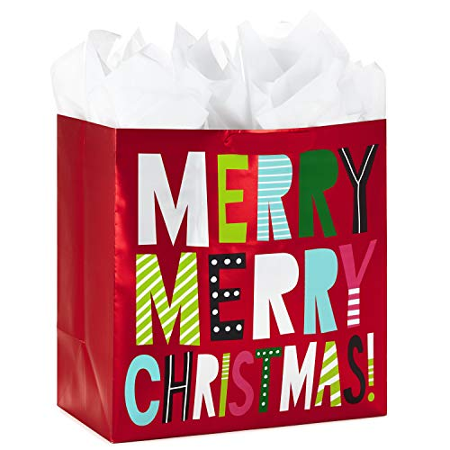 Hallmark 15' Extra Large Christmas Gift Bag with Tissue Paper (Merry Christmas)