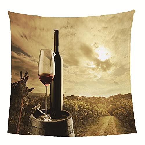 Mantas para Sofa De Franela 3D Vino Manta con Estampados para niños Adultos Manta de Microfibra Suave cálida para Cama sofá y Viaje 100x130cm
