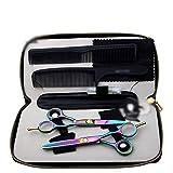 YHtech Colorido 5,5 Pulgadas Tijeras Set, Color de peluquería Tijeras Profesionales, Plana + Diente de Tijera Conjunto (Color: Color)