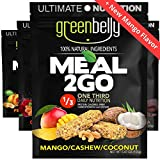 Greenbelly Backpacking Meals - Backpacking Food, Appalachian Trail Food Bars, Ultralight, Non-Cook, High-Calorie, Gluten-Free, Ready-to-Eat, All Natural Meal Bars (Variety, 12 Meals)