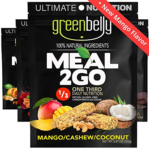 Greenbelly Backpacking Meals - Backpacking Food, Appalachian Trail Food Bars, Ultralight, Non-Cook, High-Calorie, Gluten-Free, Ready-to-Eat, All Natural Meal Bars (Variety, 4 Meals)