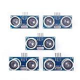 ANGEEK 5 unidades HC-SR04 Sensor de distancia de sensor ultrasónico para Arduino UNO, MEGA2560, Nano, robot, XBee, ZigBee, Rapsberry Pi, etc.