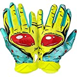Battle Sports Alien Ultra-Stick Football Receiver Gloves for Youth and Adults (Adult Medium)
