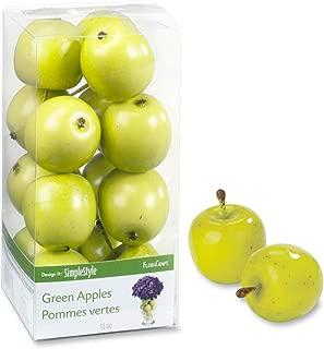 FloraCraft 15 Piece Decorative Mini Fruit Green Apple