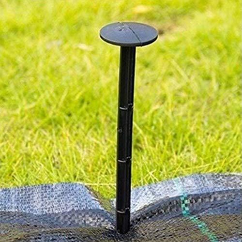 Clavijas De Tierra Suelo Duro Piquetas Fijación Negro Paisaje Tela Plástica para Asegurar Weed Irrompibles Inflexible 11cm 50pcs