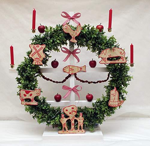 Bloomingdeel Advent Dekoration Friesenbaum handgefertigt Jöölboom Kenkenbuum Weihnachtsbaum