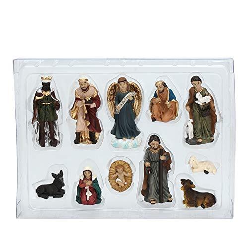 Sheuiossry Nativité à Bethléem - 11 pièces - Décoration pour salon, chambre, bureau, armoires.