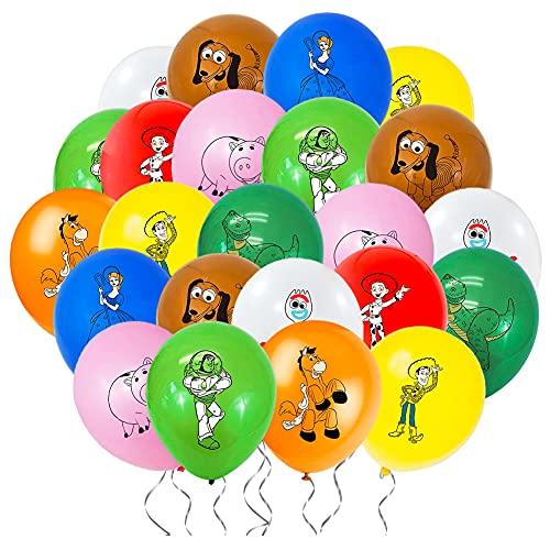 Kit de Globos de Toys Story Hilloly 36Pcs Toy Story Globo de Látex Toy Story Decoración de Fiesta para Decoración de Fiesta de Cumpleaños para Niños