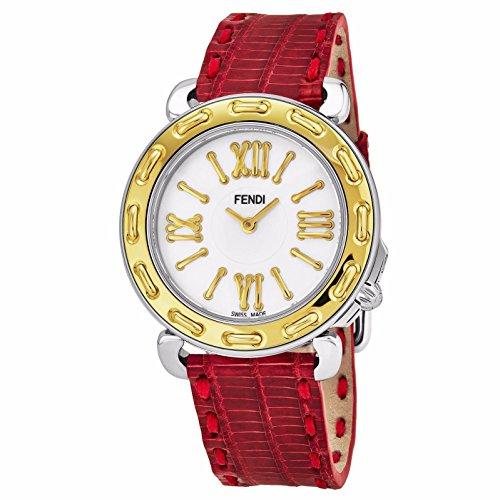 Fendi Selleria 35mm Leather Band Swiss orologio al quarzo F8001345H0.TSN7