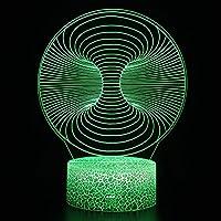 3Dイリュージョンナイトライト 抽象的な色 溶岩亀裂ベース キッズ3DLEDナイトライトファッション7色段階的に変化するスマートタッチスイッチUSBテーブルランプホリデークリスマスおもちゃギフト家の装飾