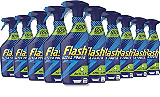 Flash Ultra Power Anti-Bacterial Spray, Kitchen & Bathroom Cleaner, Fresh, 5 Litres (500 ml x 10) (B087XJWQMM)   Amazon price tracker / tracking, Amazon price history charts, Amazon price watches, Amazon price drop alerts