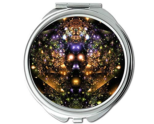 Yanteng Spiegel, reisespiegel, Raum schädel licht, taschenspiegel, 1 X 34X Vergrößerung