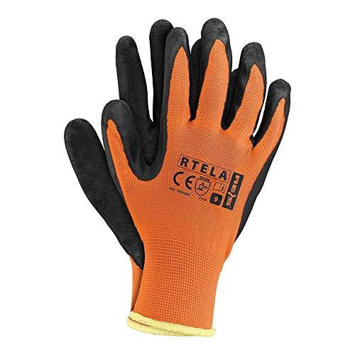 Reis RTELA_PB11 Schutzhandschuhe, Orange-Schwarz, 11 Größe, 12 Stück