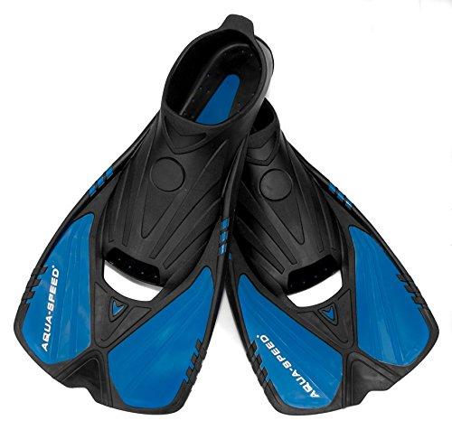 Aqua Speed Taucherflossen Erwachsene I Schwimmflossen I Schnorchelflossen Anti-Rutsch I Trainingsflossen Fersenlaschen I Flossen Schwimmtraining I + UP Schlüsselband I Gr. 36/37 I Action