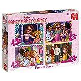 Jumbo Disney Fancy Nancy 4in1 Puzzle Pack Puzzle - Rompecabezas (Puzzle Rompecabezas, Dibujos, Niños, Chica, 3 año(s), Interior)