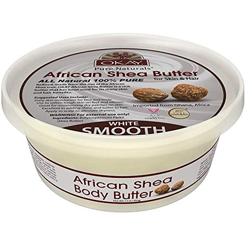 OKAY | African Shea Butter | For All Hair Textures & Skin Types | Daily Moisturizer - Soothe Irritation |...