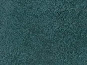 Teal Crushed Velvet Brindle Pet Friendly Water-cleanable Upholstery Fabric by The Yard - Marina 160 Peacock