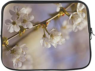 Design Custom Blossom Bloom Pink Macro Garden Flowers Plant Sleeve Soft Laptop Case Bag Pouch Skin for MacBook Air 11
