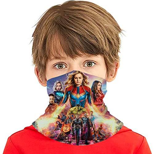 Kids Avengers Heroes Face Mask Bandanas Scarf Balaclava Full-Coverage Tube Neck Gaiter Headband Multifunction Face Mouth Cover