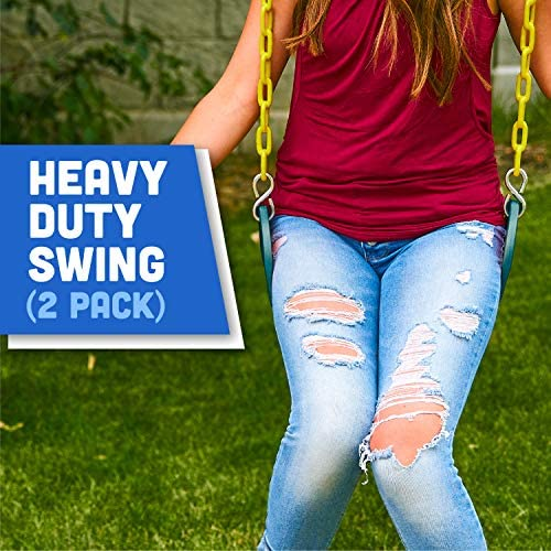Plastic slide and swing set _image3