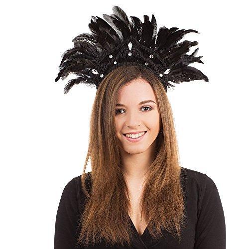 Carnival Headdress. Black Feather