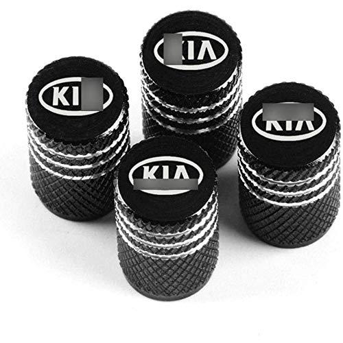 ZWWZ para Ki-a Rio ceed sportage cerato Soul Sorento k2 k5 Flip, Tapas para Válvulas de Neumático de Rueda de Coche(4pcs) Coche Resistente al Agua y al Polvo Accesorios