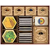 TowerRex Storage Organizer for Catan Storage for Catan Organizer Kit Token Box Card Insert