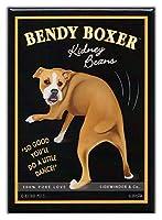レトロ犬冷蔵庫マグネット:ボクサー| Kidney Beans |ヴィンテージ広告アートbyレトロペット