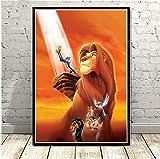 AJBB Der König Der Löwen Filmplakat, Kunstplakat Leinwand