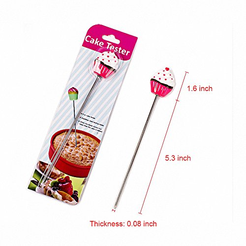 MoldFun 2Pcs Cake Tester Probe Cake Bread Pastry Biscuit Cookie Muffin Baking Cooking Stainless Steel Long Tester Skewer Sticks Tool