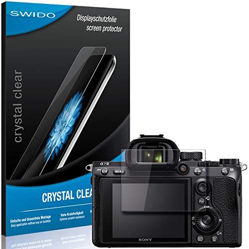 SWIDO Film de Protection d'écran pour Sony Alpha 7 III [Crystal-Clear] Transparent, sans Bulles, Extrêmement résistant, Anti-Empreinte Digitale - Film Protecteur