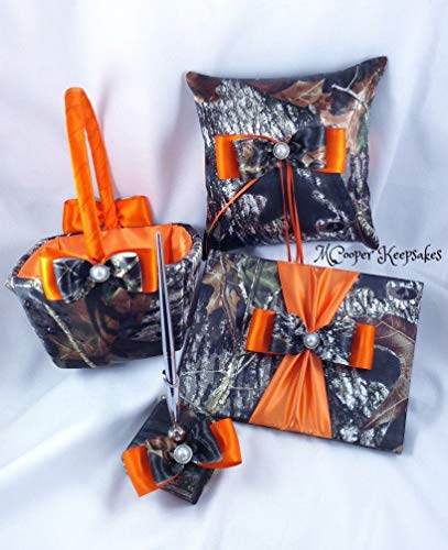 Mossy Oak Satin Camo & Orange Basic Wedding Set