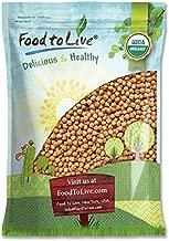 Organic Garbanzo Beans, 15 Pounds - Dried Chickpeas, Non-GMO, Kosher, Raw, Sproutable, Bulk