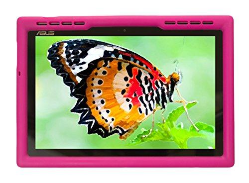 BobjGear Carcasa Resistente para Tablet ASUS ZenPad Z300, Z300C, Z300CNG, Z300CX, Z300CG, Z300CL, Z300CNL, Z301ML, Z301MFL, P00L, P023, Z300M, Z310M, P00C, P01A, P028 - Bobj Funda Protectora (Rosa)