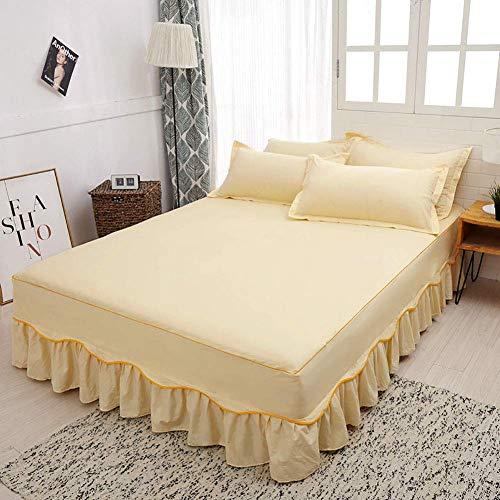 KELITINAus - Sábana bajera suave con absorción de humedad exquisita, transpirable, cálida y gruesa, sábana bajera de 150 x 200 cm, B, 180 x 200 cm