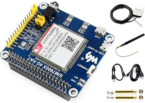 4G/3G/GNSS HAT for Raspberry Pi 4B/3B+/3B/2B/Zero/Zero W/Zero WH and Jetson Nano,Based on SIM7600A-H,4G Communication GNSS Positioning,LTE-FDD B2/B4/B12 Brand Support LTE CAT4 up to 150Mbps