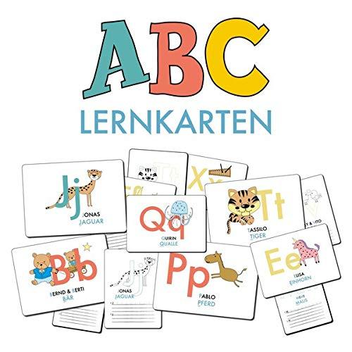 ABC-Lernkarten der Tiere, Bildkarten, Wortkarten, Flash Cards mit Groß- und Kleinbuchstaben | Lesen lernen mit Tieren für Kinder im Kindergarten und ... cm), 26-teilig | Stay Inspired! by Lisa Wirth