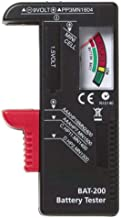 Battery Tester, Elevin(TM) New Indicator Universal Battery Cell Tester AA AAA C/D 9V Volt Button Checker (Black)