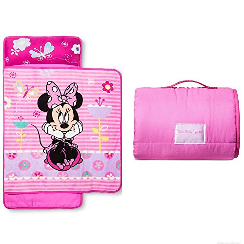 Disney Minnie Mouse Girls Pink Nap Mat with Blanket