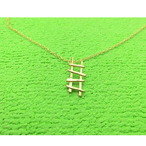 sufengshop Stappen Ladder tot succes Bouw Gelaagde Kleine Hoge Ladder Kettingen voor Minimalistische Geometrische Betekenis Sieraden