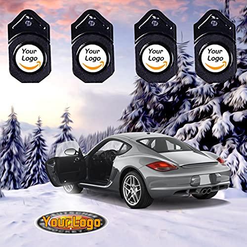 Set di 4 pellicole per proiettori della luce della portiera dell'auto, personalizzabili