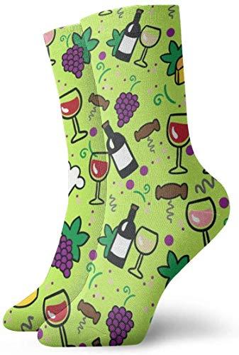 Love girl Calcetines personalizados de vino de dibujos
