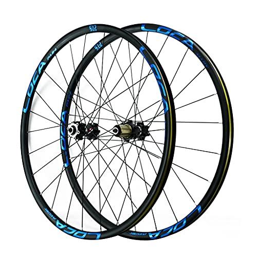 ZCXBHD 700C Ruedas De Bicicleta De Carretera Freno De Disco Liberación Rápida Aleación de Aluminio llanta 4 Palin Teniendo 8-12 Velocidad (Color : Blue, Size : 700C)