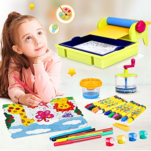 VATOS DIY Papierherstellung Bastelset für Kinder, Kreative Pädagogische Wissenschafts Kit Spielzeug ab 5 6 7 8 9 10 Jahren für Kinder, Lernspielzeug Geschenk für Kinder Jungen und Mädchen