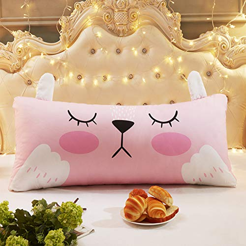 PeiQiH Cartoon Reading backrest Cushion,Headboard Cushion,Three-Dimensional Soft Bag Tatami Protect Waist Back for Sofa or Bed Removable Cover-D 110x50cm(43x20inch)