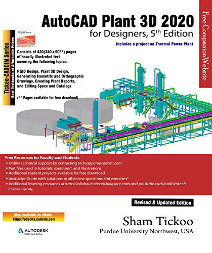AutoCAD Plant 3D 2020 for Designers, 5th Edition (English Edition)