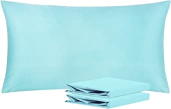NTBAY King Pillowcases, Set of 2, 100% Brushed Microfiber, Soft and Cozy, Wrinkle, Fade, Stain Resistant, with Envelope Closure, Apua