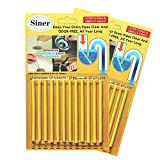 Siner Drain Cleaner Sticks, Sink Deodorizer As Seen On TV, Sink Freshener Cleaner Sticks...